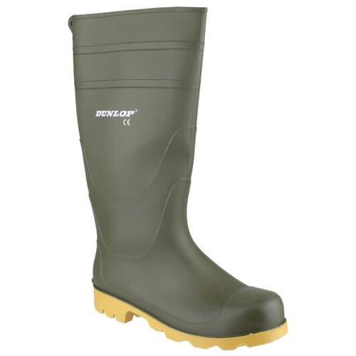 Dunlop Universal Plain Rubber Wellingtons Green
